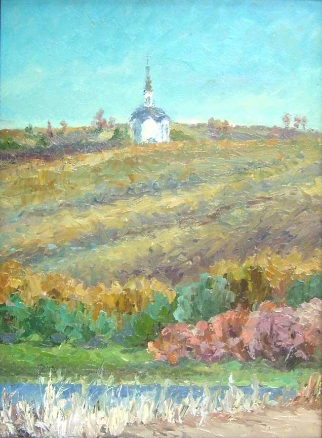 Пейзаж с церквушкой