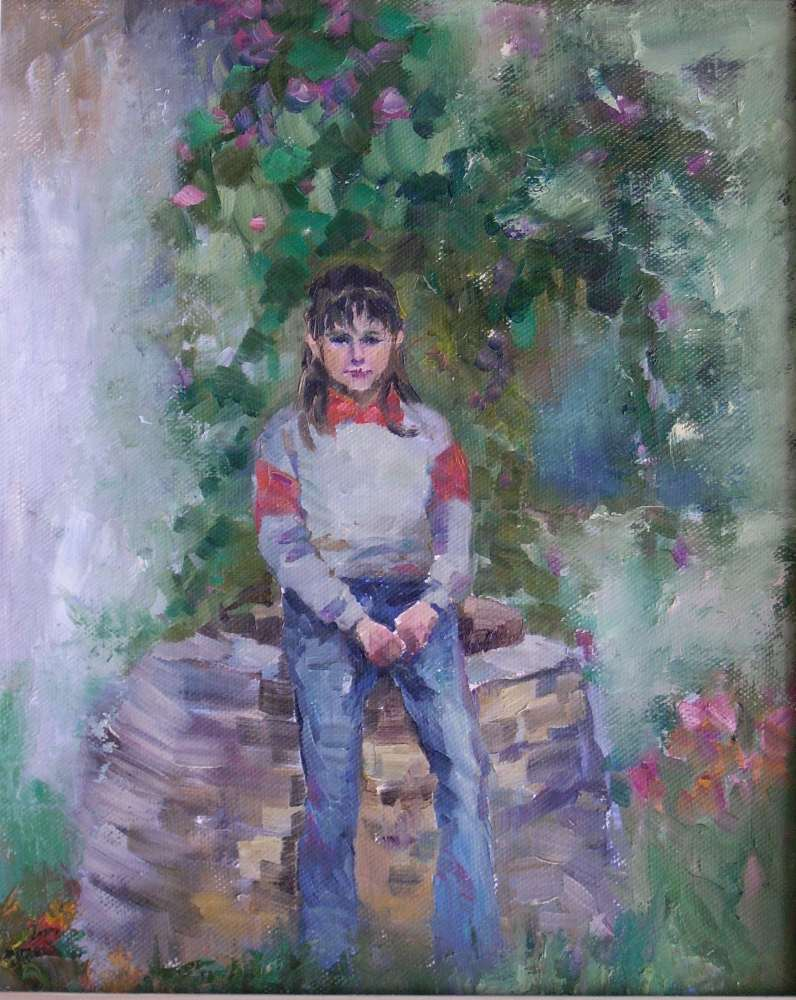 Ирина во дворе