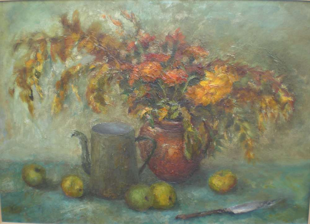 Натюрморт с осенними цветами