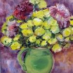 2. Г. Молотова. Желтые цветы. Х., м., 38х32, 1991